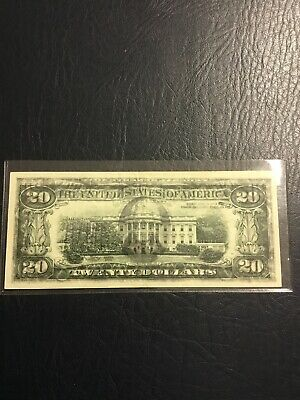 1993, $20.00 bill with Overprint On Back - Near Mint Condition