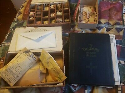 Antique stamp collection, over 2,000 and early post card collection 100  p cards
