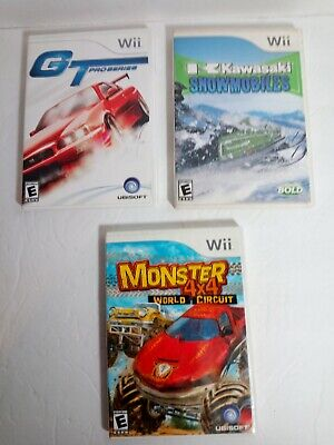 LOT 3 Wii GAMES Nintendo Racing Snowmobiles Monster 4x4 GT Pro Series Kid Family