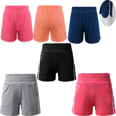 Kids Sports Elastic Shorts Girls Workout Hot Pants Yogo Bottoms Jogging Shorts