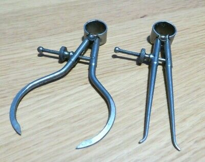 """Vintage Moore & Wright  - Round Leg Toolmakers Inside and Outside 3"""" Calipers"""