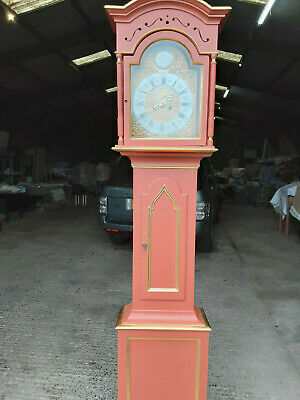 Early 19Th Century/Antique Painted Danish Continental Long Case Clock