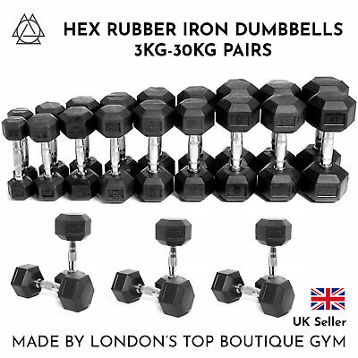NEW Outrivals Hex Dumbbells 3kg-30kg Pair Gym Fitness Training Weight Exercise
