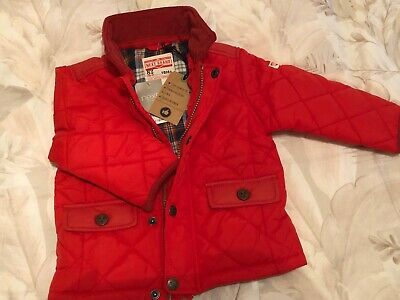Next Boy's Quilted Jacket Age 12-18 Moths  Colour Red NEW