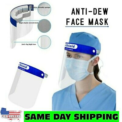Safety Face Shield - Clear - Spash Proof - Anti Fog Protector Work Industry