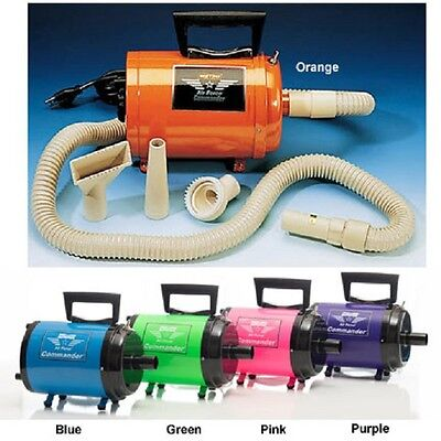 Metro Commander AFTD-1 220 Volt Two Speed Pet Dog Hair Dryer Now in Five Colors