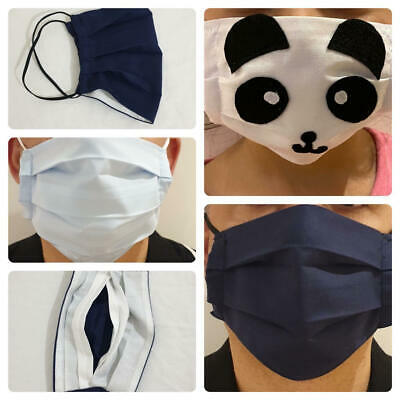 High Quality Protective Cotton Face Mask Washable Breathable Anti Allergy