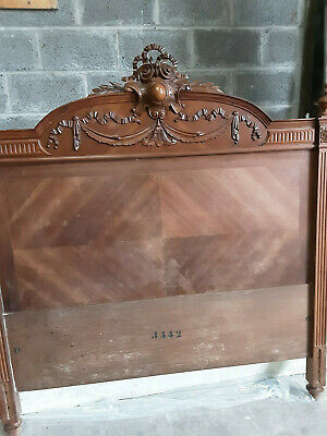 Antique, 19/20Th Century Carved Wood French Double Bed
