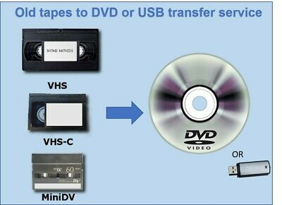 VHS, VHS-C & All Camcorder Tapes Transfer to Digital - DVD/USB - Service UK