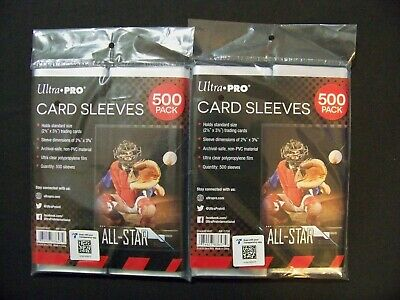 (1000) ULTRA PRO - Soft Penny Poly Sleeves Trading Card Protective Holders Pack
