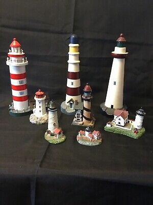 Lighthouse collection Of 8 Different Pieces Large And Small
