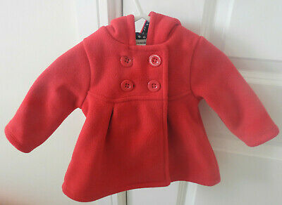 Jasper Conran Junior J Red Baby Girl Coat With Hood 0-3 Months Gorgeous