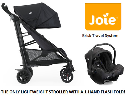 JOIE BRISK Travel System. PUSHCHAIR / STROLLER with CAR SEAT. BRAND NEW in BOX