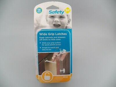 Safety 1st Baby Cabinet Locks Wide Grip Latches WHITE ~ NEW Sealed Free Shipping