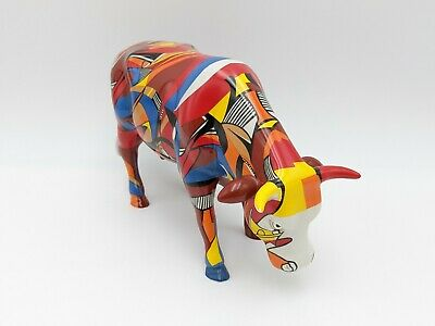 "Cow Parade Westland 7454 Psycowdelicowwow With Original Box 2002 Large 10"" Rare"