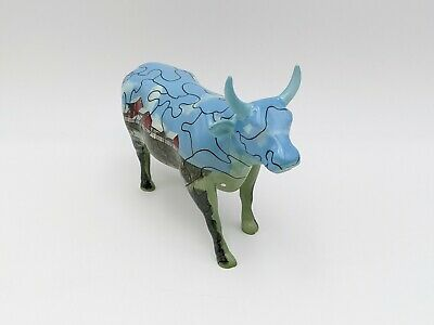 Cow Parade Westland #9181 Puzzle Cow No Box 2001 Retired Rare Farm Barn Scene