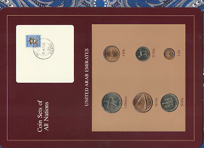 Coin Sets of All Nations UAE United Arab Emirates UNC 1973-1984 15-4-1985