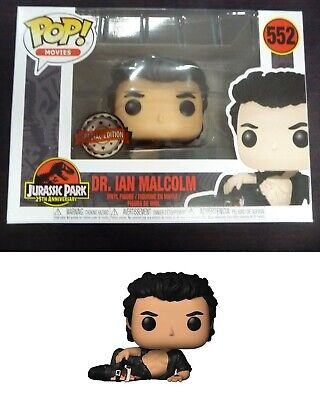 FREE POP PROTECTOR FUNKO POP JURASSIC PARK DR IAN MALCOM WOUNDED EXCLUSIVE