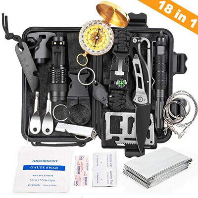 18 in 1 Emergency Survival Tactical Defense Equipment Tools with Compass Kit UK
