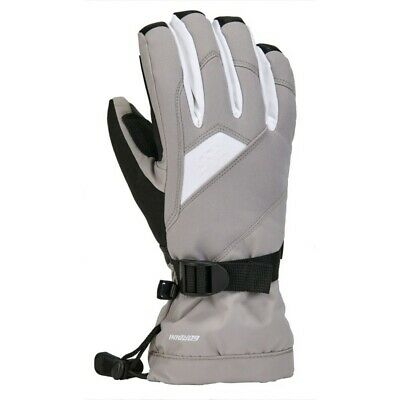 Gordini Aquabloc Down Gauntlet Womens Gloves Small/Clay Grey-White NEW
