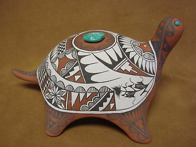 Jemez Pueblo Indian Handmade Clay Turtle Sculpture by Scott Small
