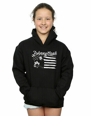 Johnny Cash Girls Flag Stripes Hoodie