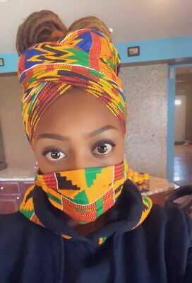 Kente HeadWrap and Face Mask Combo