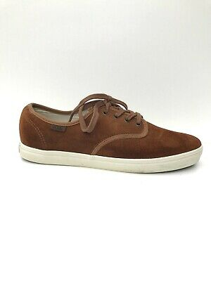 VANS PIG SUEDE AUTHENTIC DECON Brown Low Top Trainers Shoes - UK Size 8.5 US 9