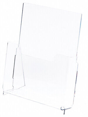 "Plymor Acrylic Premium Brochure/Document Literature Holder, Fits 8.5""x11"" Items"