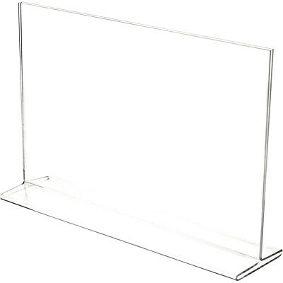"""Plymor Clear Acrylic Sign Display / Literature Holder (Top-Load), 17"""" W x 11"""" H"""