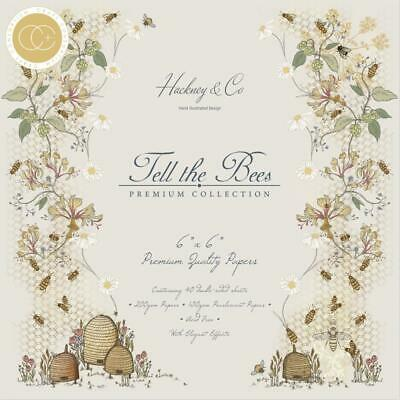 "BEE TELL THE BEES 6"" x 6"" Inch Paper Pad Craft Consortium CCPPAD005B New"