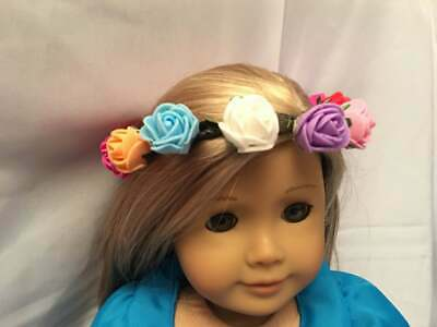 "Flower Crown Fairy fits 15"" 18"" American girl Doll Bitty Baby Princess Costume"