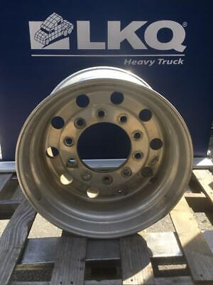 Aluminum 22.5 x 14 Super Single 10 Bolt Semi Truck Wheel