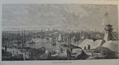 City Of Baltimore From Federal Hill Maryland 1878