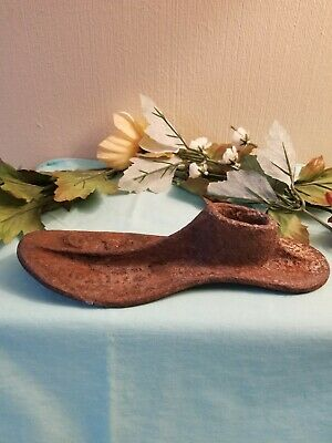 Vintage Antique Cast Iron Metal Shoe Cobbler Mold Form, From Bygones Past.
