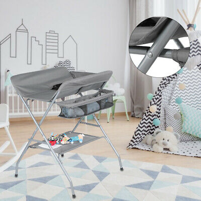 Indoor Folding Baby Infant Newborn Large Storage Space Diaper Changing Table