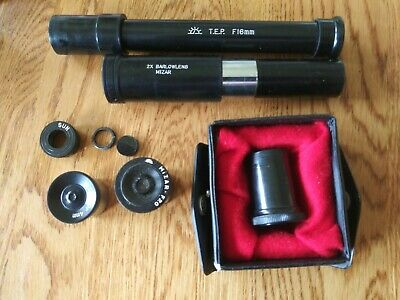 MIZAR Eyepiece f20, or. 4mm, f8,2x barow lens, terrastrial f-16mm lot japan vnt