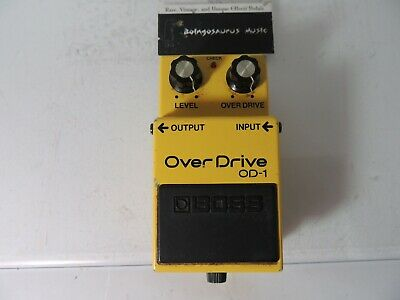 Vintage Boss OD-1 Overdrive Effects Pedal Made in Japan JRC4558 IC Original