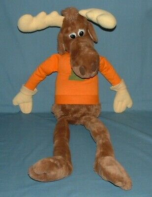 """Vintage 26"""" Bullwinkle Stuffed Toy - 1982 - Wallace Berrie - Used Condition"""