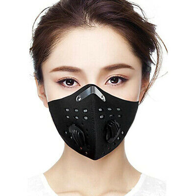 Cycling PM2.5 Respirator Anti Air Pollution Face Mask & Activated Carbon Filters