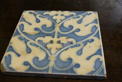 Cherwins Vintage/Antique Possibly Arts and Craft - TILE - Blue & white -English