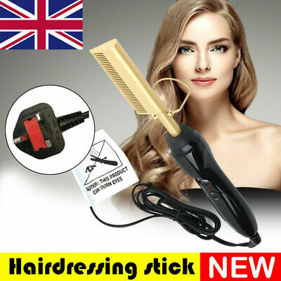 Electric Straightener Brush Beard/Hair Comb Curling Iron Hot Hair Flat 40W Tool