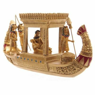 Decorative Gold Egyptian Canopy Boat Ethnographic Ornament