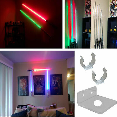 Light Saber Stand Vertical Wall Mount Rack for Star Wars Force FX Lightsabers US