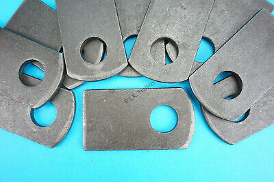20 x Weld-on Eye Plates for M12 Antiluce Drop Lock Catch Side Tail Gate Fastener
