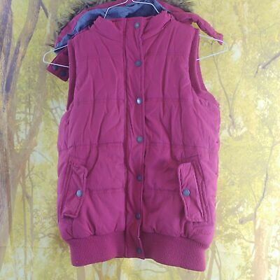 """Fat Face Pink Padded Gilet. 17"""" pit-to-pit, 23"""" length, age 12"""