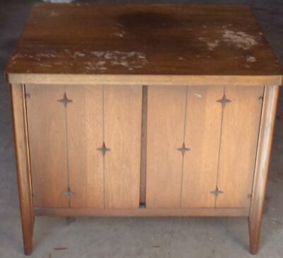 Vintage MID-CENTURY Solid Wood Commode - GDC - GREAT STAR CUT OUT CARVING DESIGN