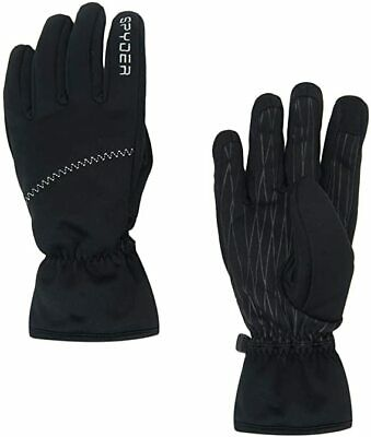 $50! NWT Women's Spyder Facer Conduct Gloves - Black / Black - Small