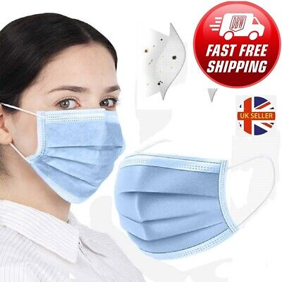10 20 50 100 Face Mask Surgical Disposable Mouth Guard Cover Face Masks