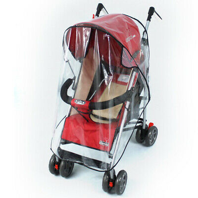 2/3x Baby Pushchair Stroller Pram Buggy Transparent Rainproof Covers Rain Shades
